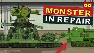 """Monster in Repair"" Cartoons about tanks"