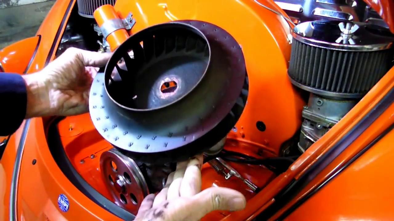 Air Cooled Vw Beetle Alternator Removal Fan Adjustment Pt 2 on