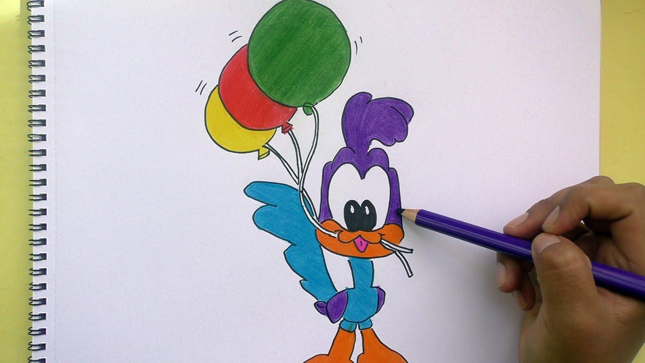 Dibujos Para Colorear Dibujo Para Colorear Bebe Bugs Bunny: Dibujando Y Pintando A Correcaminos (Looney Tunes