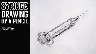 Drawing a medical syringe / Рисуем медицинский шприц