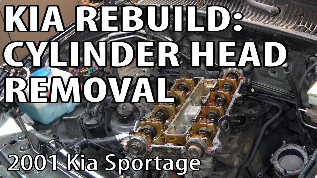medium resolution of kia sportage rebuild cylinder head removal