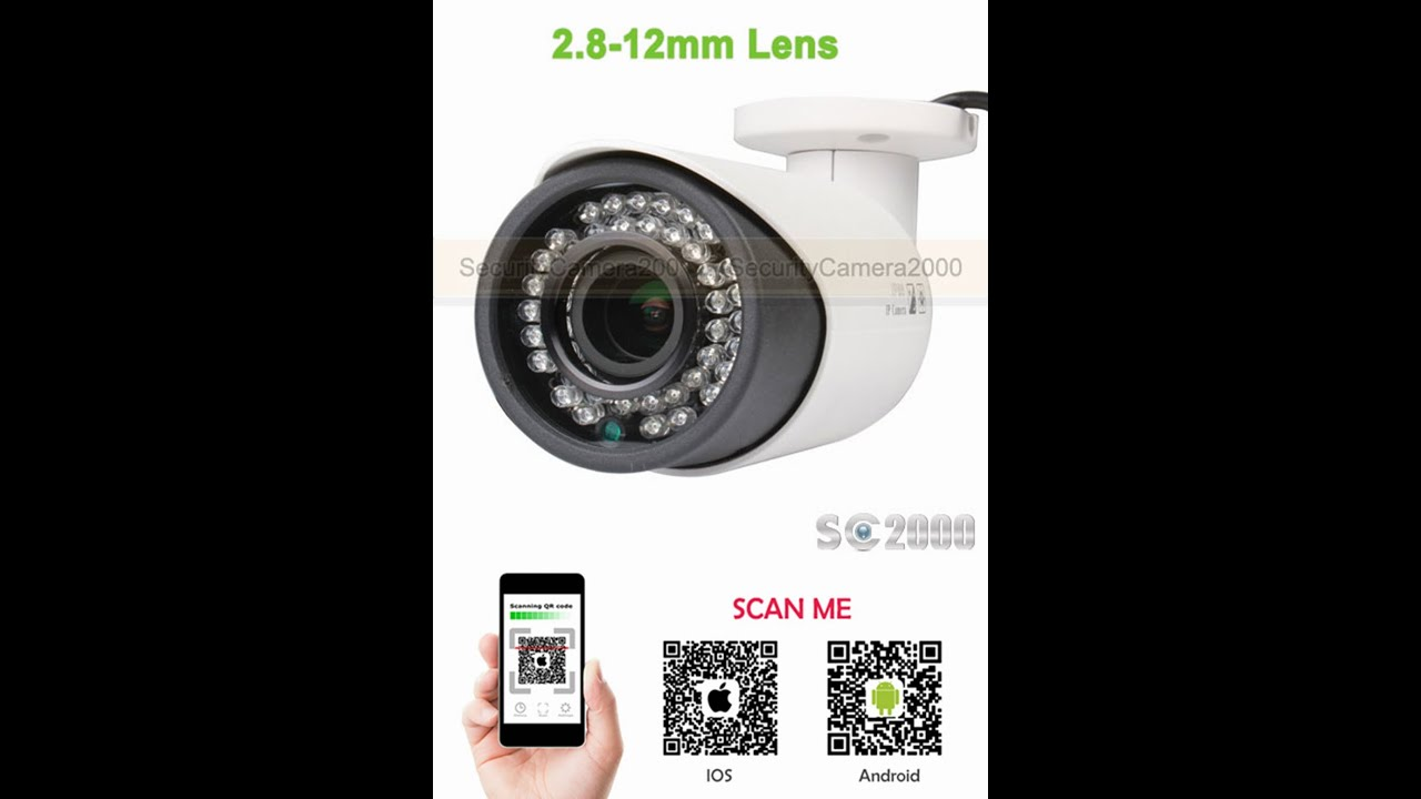 5mp 1080p Outdoor Vari Focal 28 12mm Ip Camera Ipq2375x Wiring Cam Diagram And Demo Video Youtube