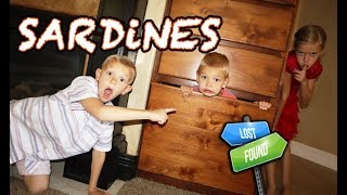 SARDiNeS In NEW HOUSE! Tannerites KIDS ONLY HIDE And SEEK Game!