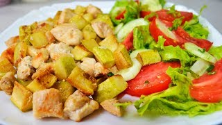 Летний Супер ужин без хлопот за 15 минут из кабачков и мяса