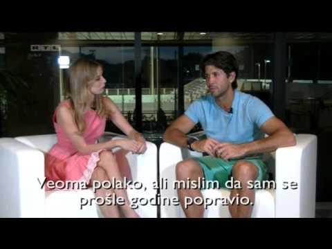 Fani Stipkovic and Fernando Verdasco interview, RTL Television