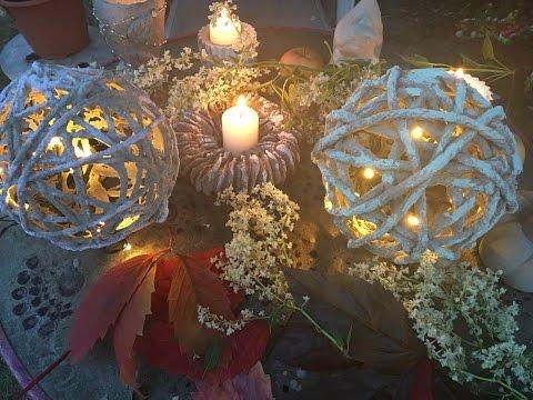 Beton Gitter Woll Lampe, Herbst Design :)