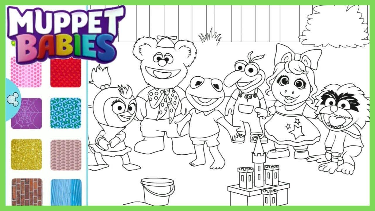 Sparkle Coloring All of the Muppet Babies   Disney Junior Color Splash