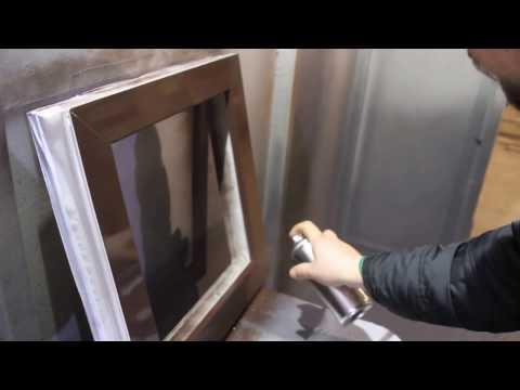 ENAMERU ®. Окраска ПВХ окна из баллончика. Имитация объектных работ.