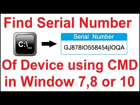 Find Serial Number of Your PC Using CMD in Windows 7,8 or 10 - YouTube