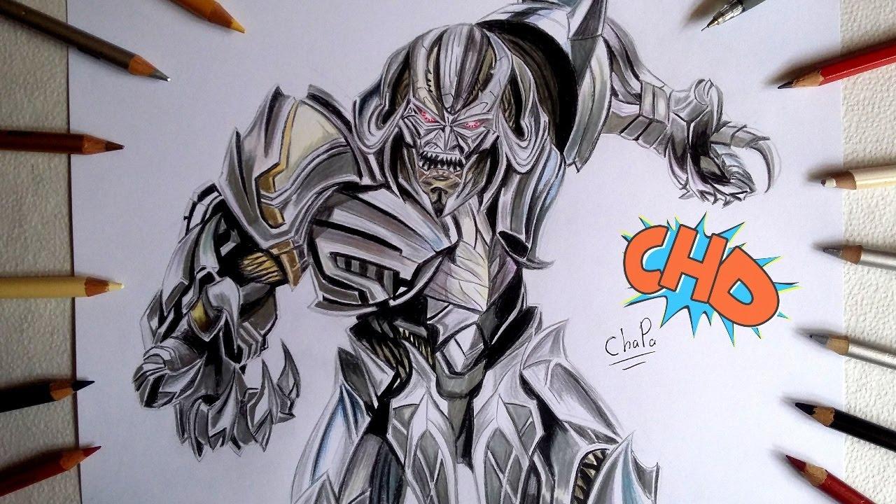 Dibujando A Megatron Transformers The Last Knight Drawing Megatron Transformers