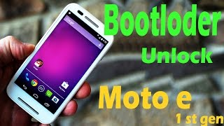 How to Unlock the BOOTLOADER in MOTO E