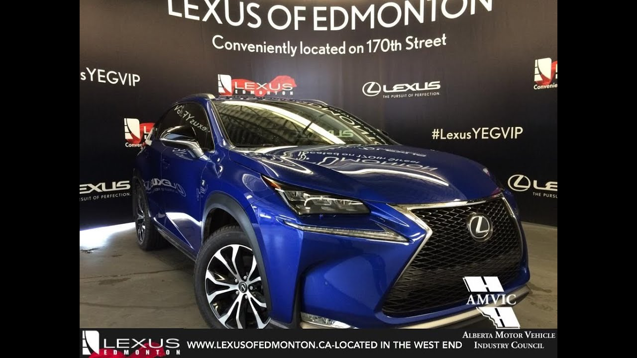 executive demo 2016 ultra sonic blue lexus nx 200t awd f sport series 2 review edmonton. Black Bedroom Furniture Sets. Home Design Ideas