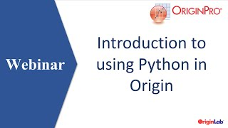 Introduction to using Python in Origin