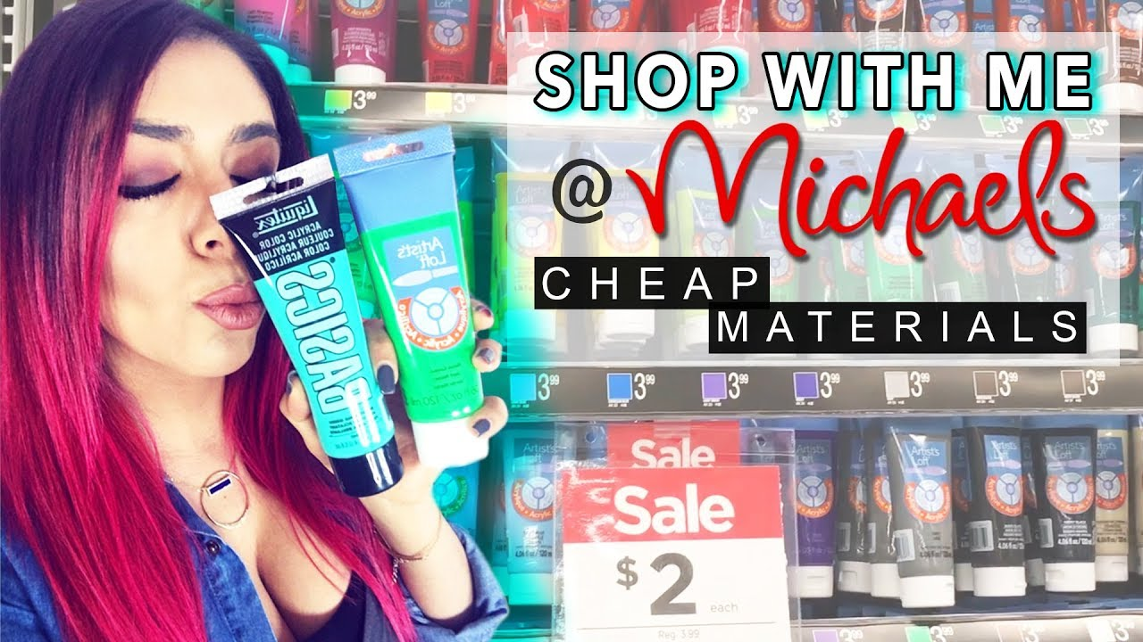 Cheap Art Supplies Michael's Shopping For Fluid Acrylic Pouring
