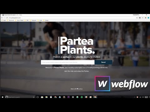 How to make a website with a full screen video background using Webflow 2018