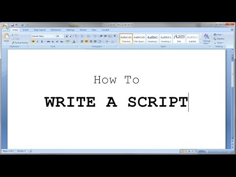 How to Write a Short Script