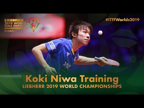 Koki Niwa Training | Liebherr 2019 World Table Tennis Championships