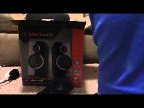 Unboxing The BlackWeb Multimedia PC Speakers