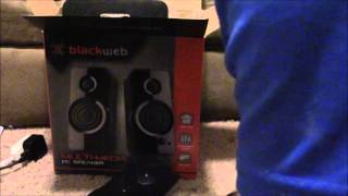 Unboxing The BlackWeb Multimedia PC Speakers