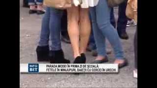 Parada modei în prima zi de şcoala, la Pascani