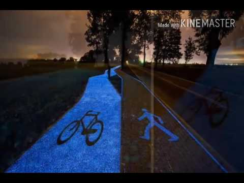 Poland Unveils Glow-In-The-Dark Bicycle Path That Is Charged By The Sun.
