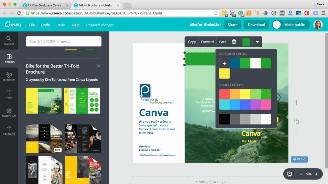 Creating a canva brochure youtube for Canva brochure maker