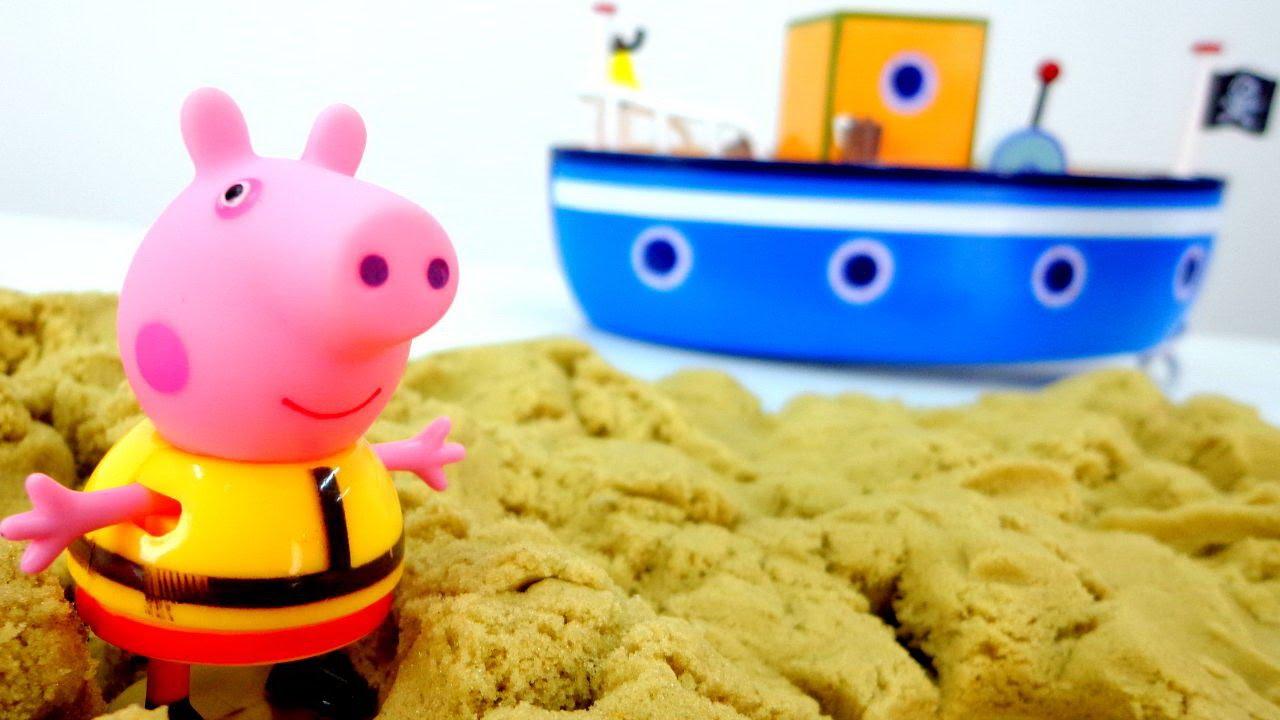 Свинка Пеппа играет в песок - Видео для детей. - YouTube