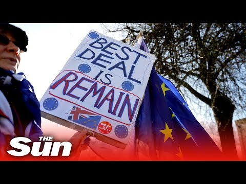Thousands of remainers march against Brexit in London LIVE