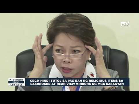 CBCP, hindi tutol sa pag-ban ng religious items sa dashboard at rear view mirrors ng mga sasakyan