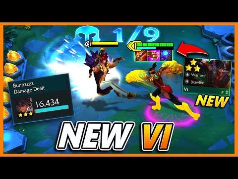 The NEW Chosen Vi Is INSANE (NEW ITEM COMBO) - BunnyFuFuu | Teamfight Tactics