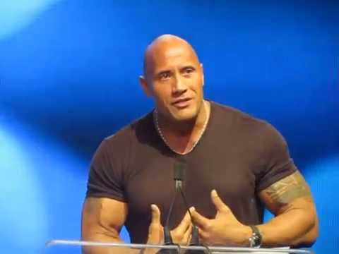 The Rock accepts the Icon of the Decade award
