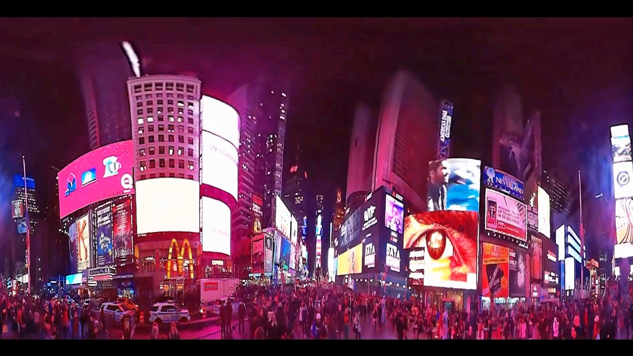Times Square At Night, Manhattan, New York City, 360 View VR Video   YouTube