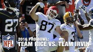 Travis Kelce Snags 4-yard TD from Eli Manning! | Rice vs. Irvin | NFL Pro Bowl 2016