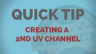 2nd UV Channel 3DS Max Quick Tip
