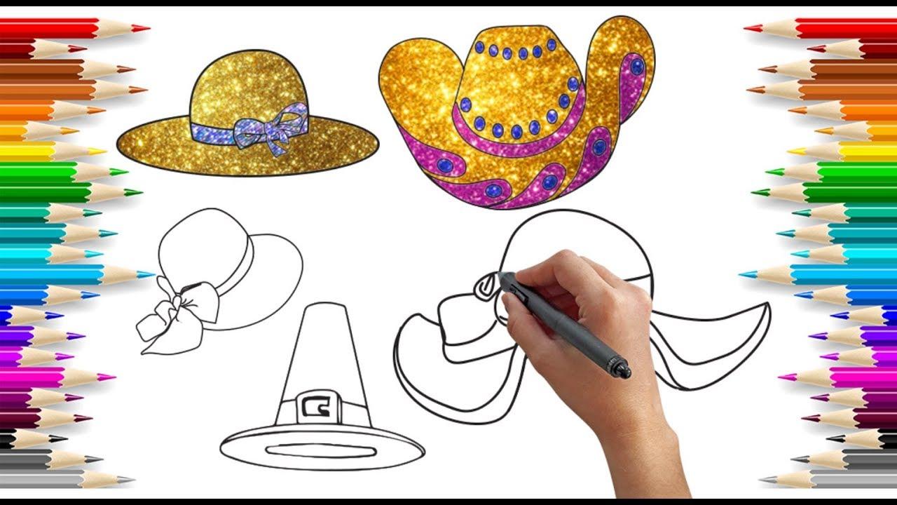 Simli şapka Boyama Glitter Hat Painting Glitter Painting For