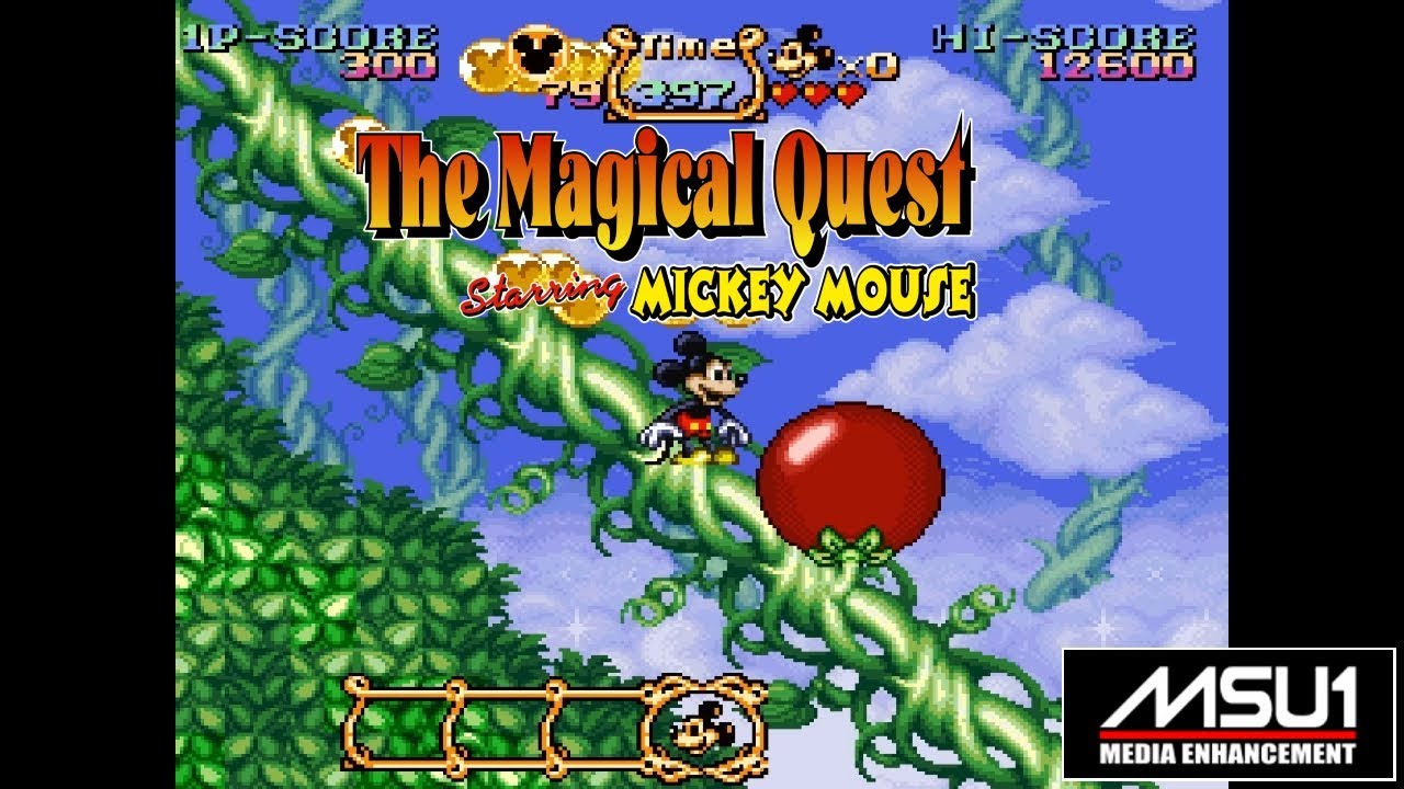 SNES MSU1 Magical Quest Starring Mickey Mouse