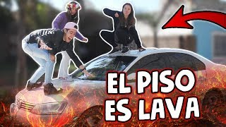 EL PISO ES LAVA🔥 (RETO EXTREMO) CON MI FAMILIA!!