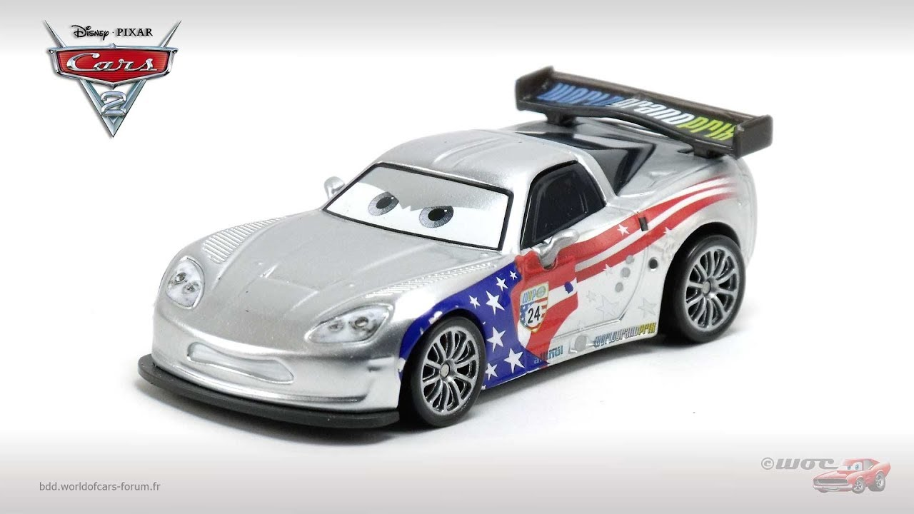 JEFF GORVETTE Metallic Finish Mattel Disney Pixar KMART CARS 2