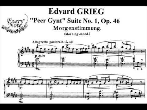 Edvard Grieg Peer Gynt Suite Morning Edvard Grieg Peer Gynt Suite