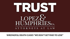Wrongful Death Cases Medical Malpractice Lawyer Lakeland FL Sebring FL Plant City FL Injury Attorney