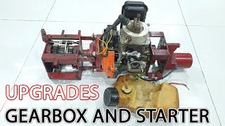2-Stroke Engine Upgrades Gearbox and Starter for DIY RC Car