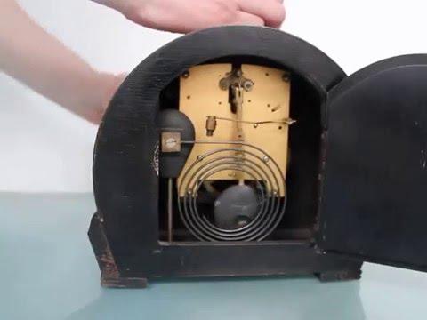 SMITHS ENFIELD Antique BAUHAUS Sweet Mantel Clock Gong Shelf UK