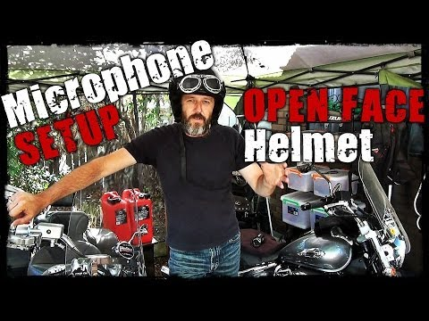 Microphone Setup for Open Face Helmet