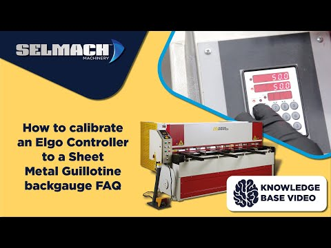 How to calibrate an Elgo Controller to a Guillotine backgauge FAQ