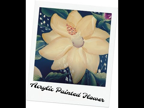 Acrylic Painted Flowers | Acrylic Painting Tutorial | Aressa | 2018