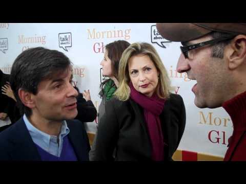 Running for Office? George Stephanopoulos at NYC Premiere of Morning Glory