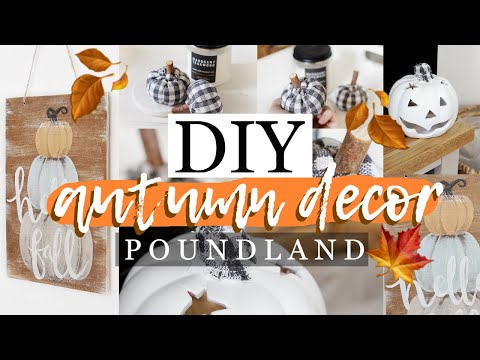 DIY POUNDLAND *FARMHOUSE* AUTUMN DECOR #2
