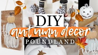 DIY POUNDLAND *FARMHOUSE* AUTUMN DECOR #2