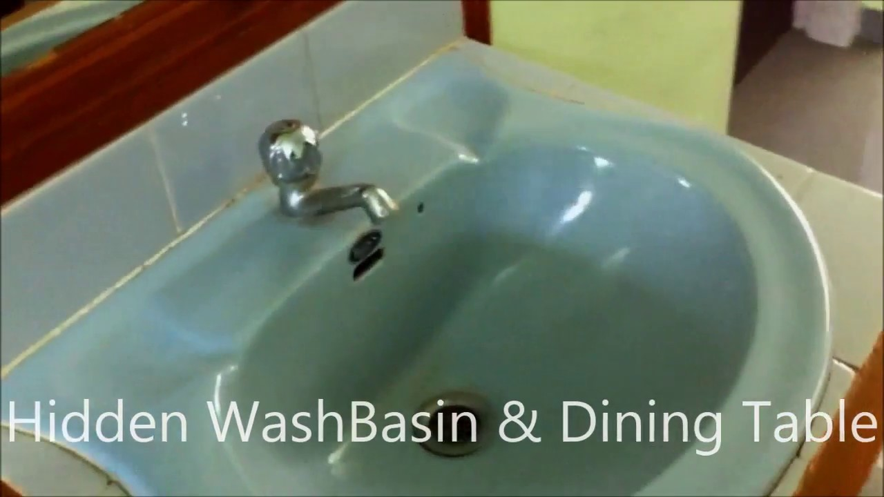 Hidden Wash Basin Amp Dining Table Youtube