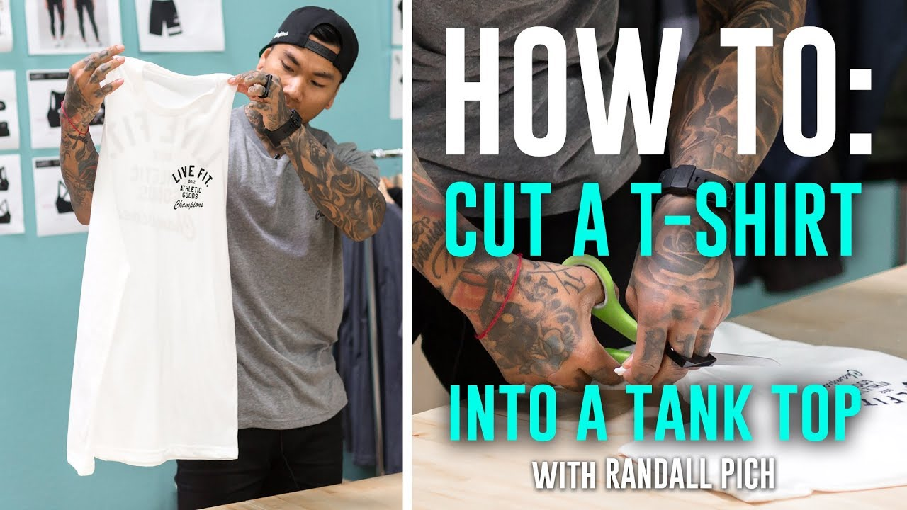 929cce5520d5 How To Cut a T-Shirt into a Tank Top - YouTube